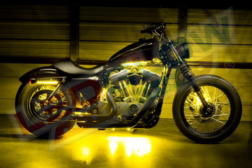 Yellow Motorcycle LED Accent Lights