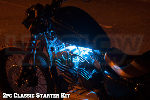 2pc Classic Ice Blue LED Motorcycle Lights