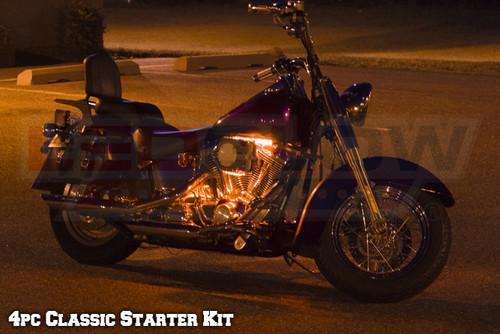 4pc Classic Orange LED Motorcycle Lights