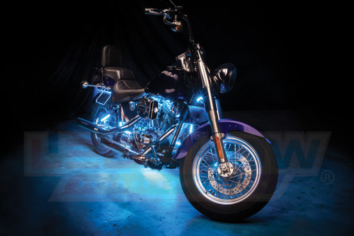 Ice Blue LED Motorcycle Lighting Kit