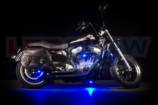 Blue Motorcycle Pod LED Lighting Kit