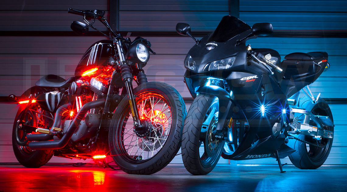 Build Your Own Advanced Million Color LED Motorcycle Lighting Kit