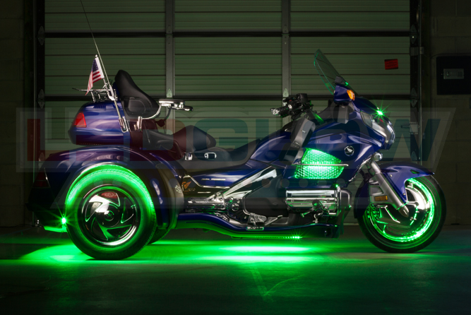 Green LiteTrike Motorcycle LED Lights