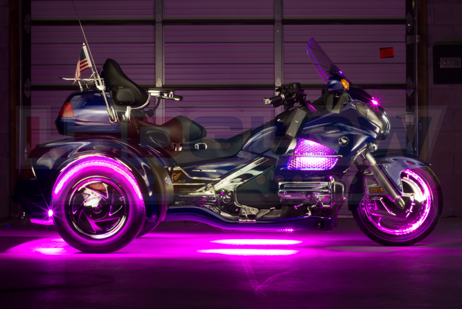 Pink LiteTrike Motorcycle LED Lights