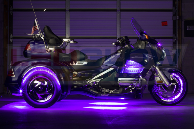 Purple LiteTrike Motorcycle LED Lights