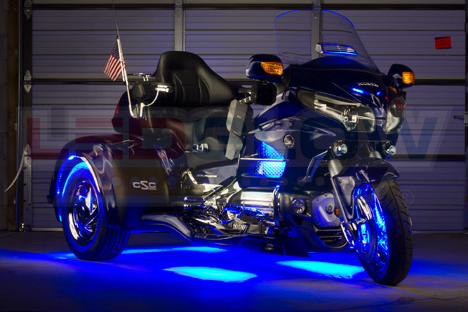 Blue LiteTrike II Motorcycle LED Lighting Kit