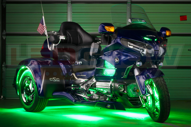 Green LiteTrike II Motorcycle LED Lighting Kit