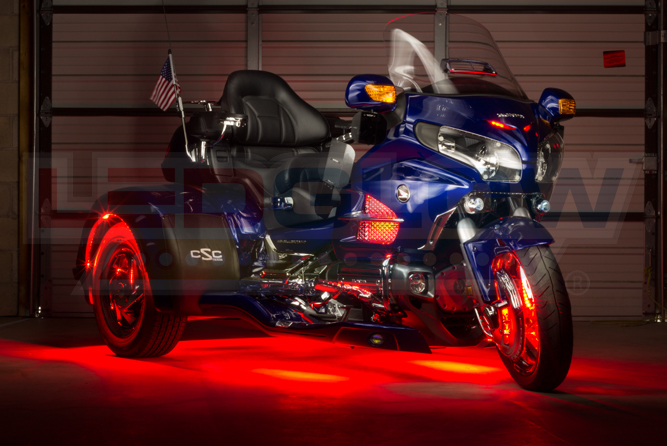 Red LiteTrike II Motorcycle LED Lighting Kit