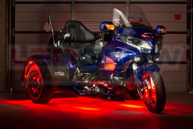 Red LiteTrike II Motorcycle LED Lighting Kit