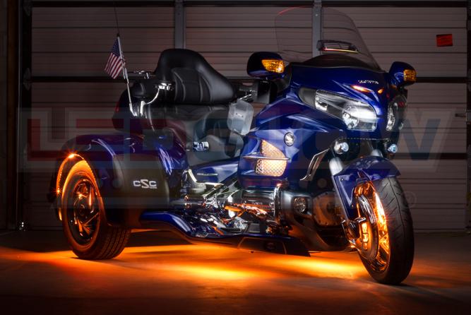 Orange LiteTrike II Motorcycle LED Lighting Kit