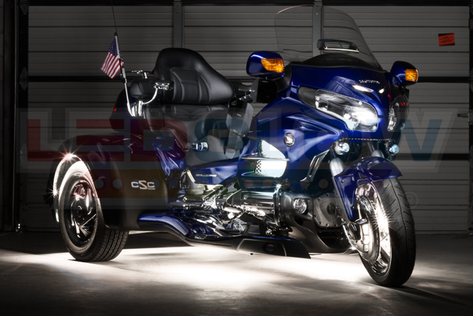White LiteTrike II Motorcycle LED Lighting Kit