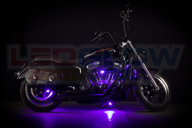 Purple Motorcycle Pod LED Lighting Kit