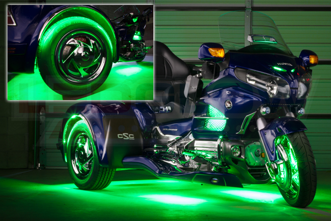LiteTrike III Advanced Million Color SMD Lighting Kit - Green