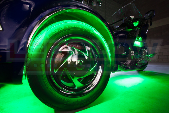 2pc LiteTrike® Advanced Million Color LED Motorcycle Wheel Well Lighting Kit