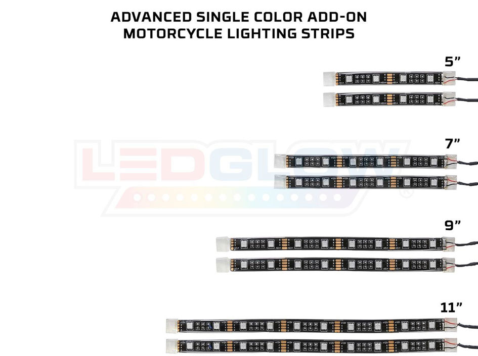 Advanced Single Color LED Flexible Motorcycle Add On Kit