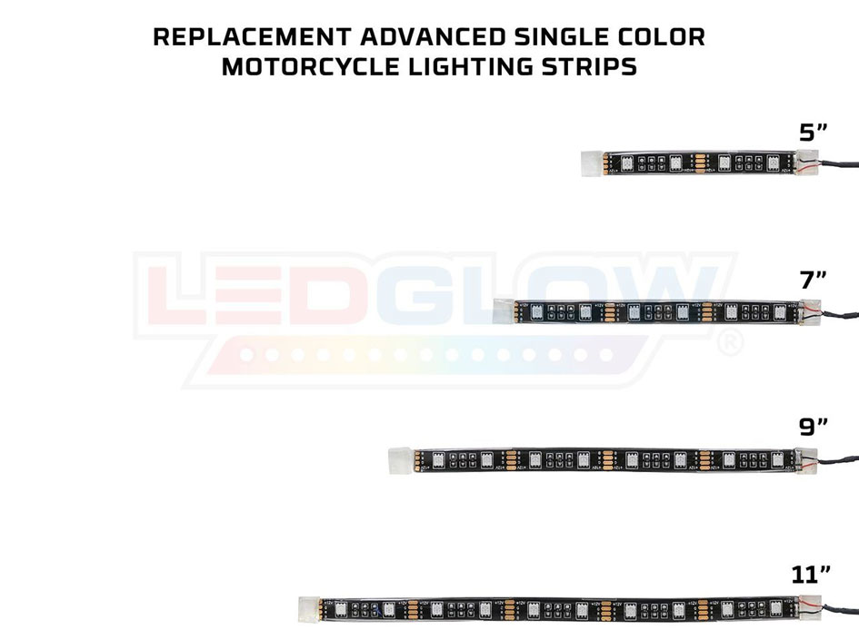 Replacement Advanced Single Color Motorcycle Lighting Strip