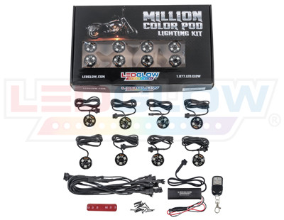 Advanced Million Color SMD LED Pod Lighting Kit Unboxed