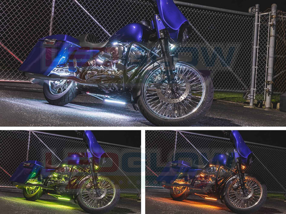 Multi Color LED Motorcycle Accent Underglow Lighting