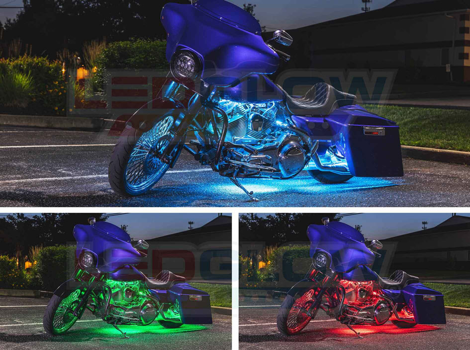Multi Color LED Motorcycle Lighting