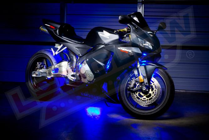 LEDGlow Advanced Blue Mini SMD LED Motorcycle Lighting Kit