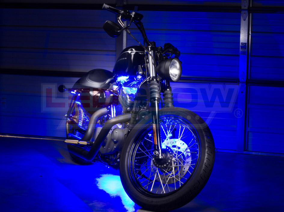Blue Motorcycle Mini LED Accent Lights