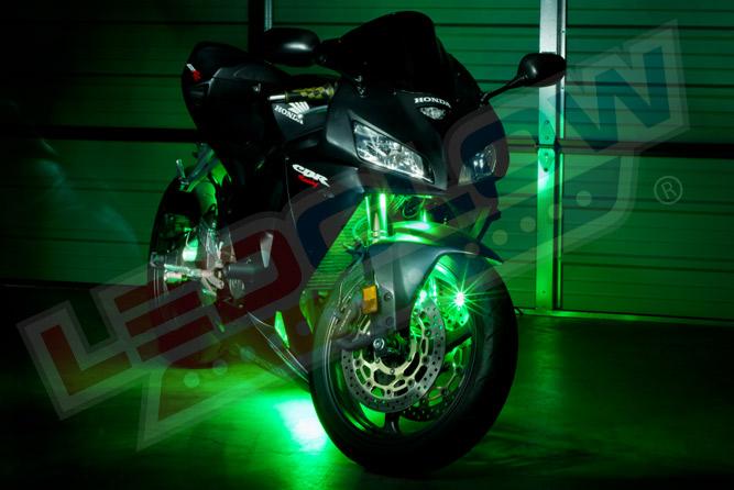Green LED Motorcycle Lighting Kit
