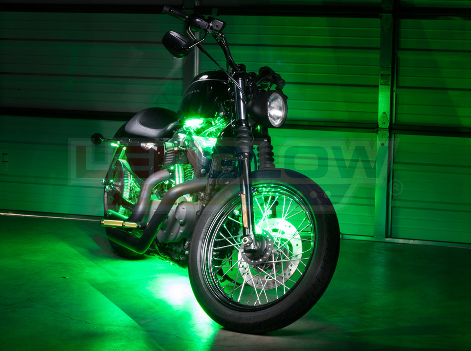 Green SMD LED Motorcycle Underglow Lights