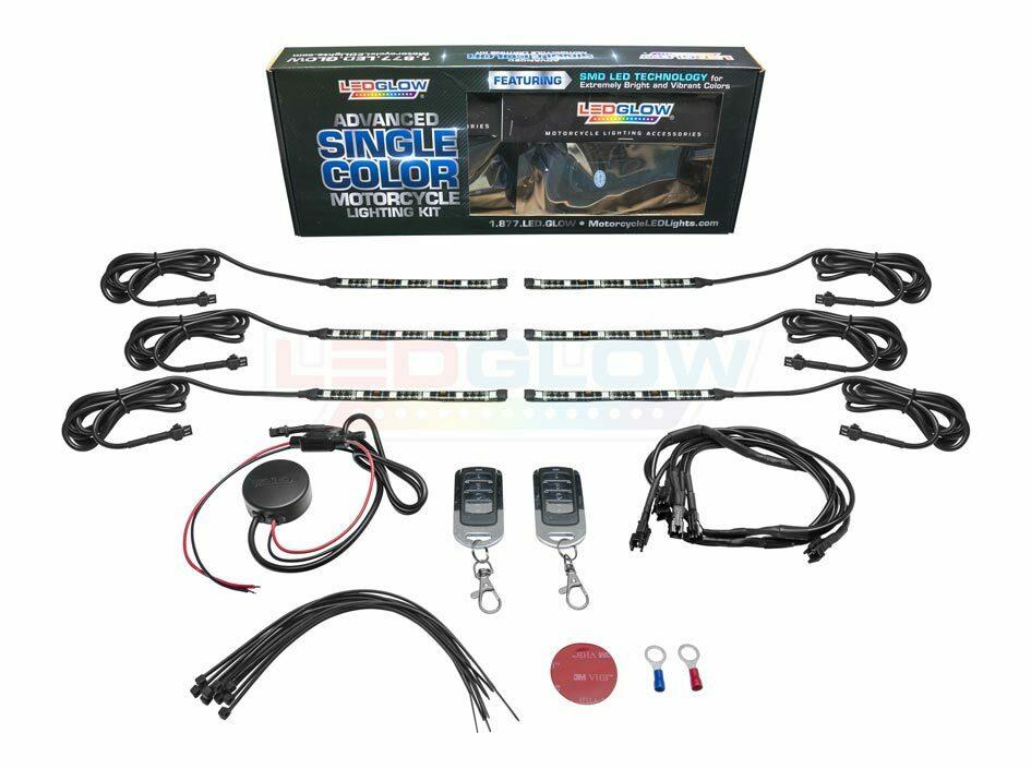 Advanced White SMD LED Motorcycle Light Kit Unboxed
