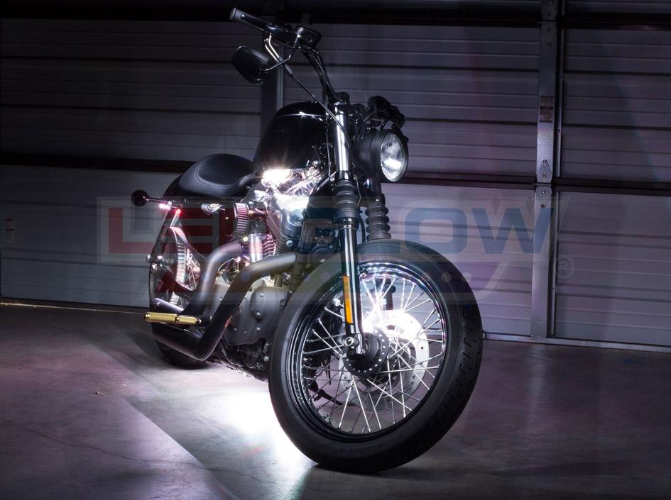 White SMD LED Motorcycle Underglow Lights