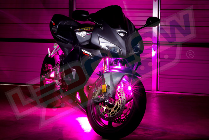 Pink LED Motorcycle Lighting Kit