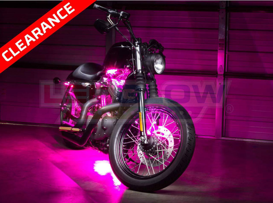 Pink SMD LED Motorcycle Underglow Lights