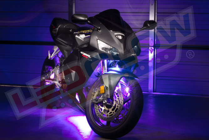 LEDGlow Advanced Purple SMD LED Motorcycle Lighting Kit