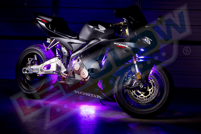 Purple LED Motorcycle Lighting Kit