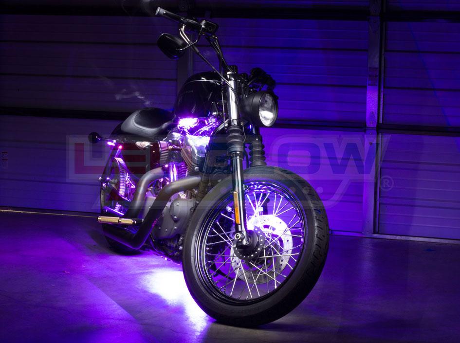 Purple SMD LED Motorcycle Underglow Lights