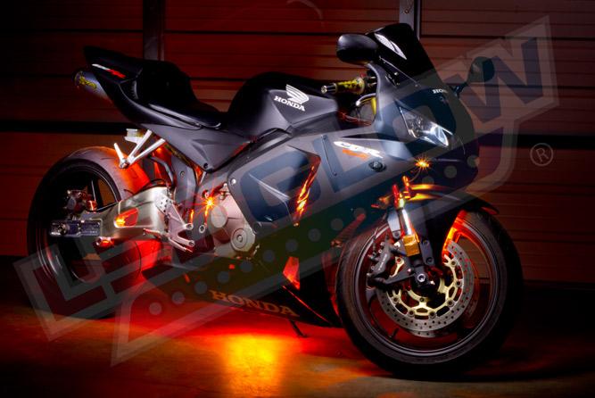 LEDGlow Advanced Orange SMD LED Motorcycle Lighting Kit