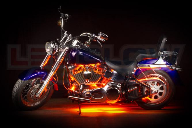 Orange Motorcycle LED Lighting Kit