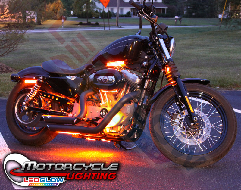 Orange LED Accent Lights for Motorcycles