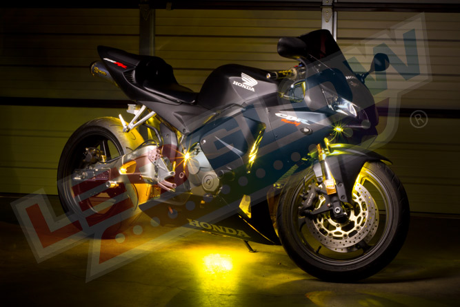 LEDGlow Advanced Yellow SMD LED Motorcycle Lighting Kit