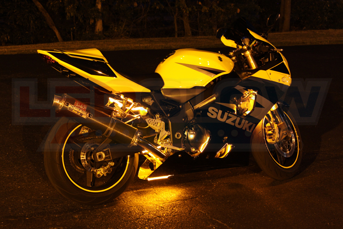 Classic Yellow LED Motorcycle Lights