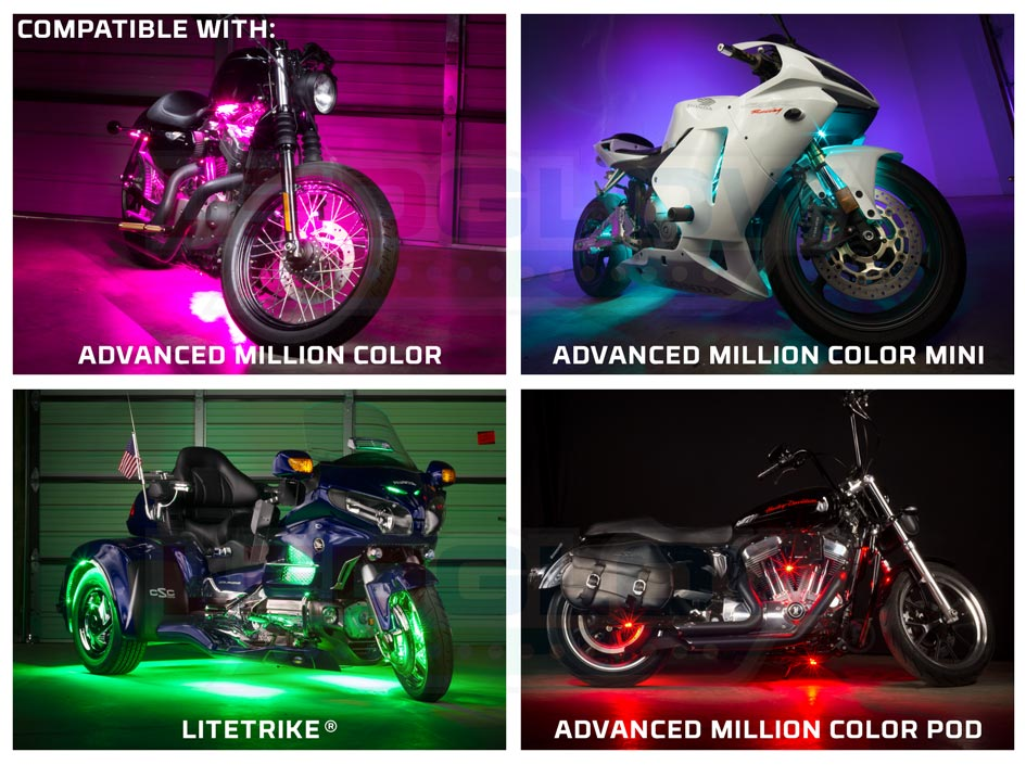Advanced Million Color Motorcycle Light Kits Compatibility