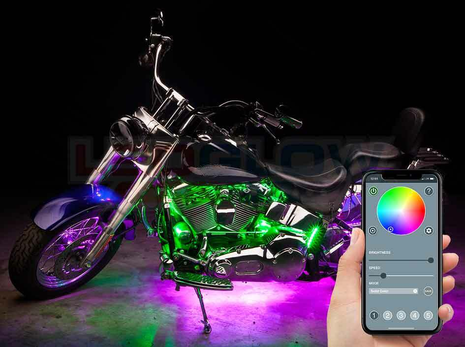 Advanced Million Color SMD LED Motorcycle Lighting Kit with Smartphone Control