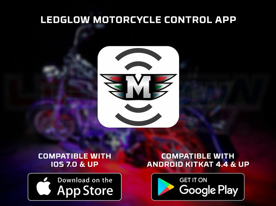 LEDGlow Motorcycle Control App for iOS & Android