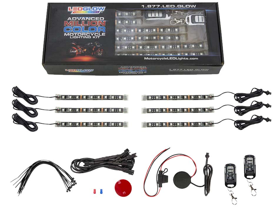 6pc Motorcycle Lighting Kit Unboxed