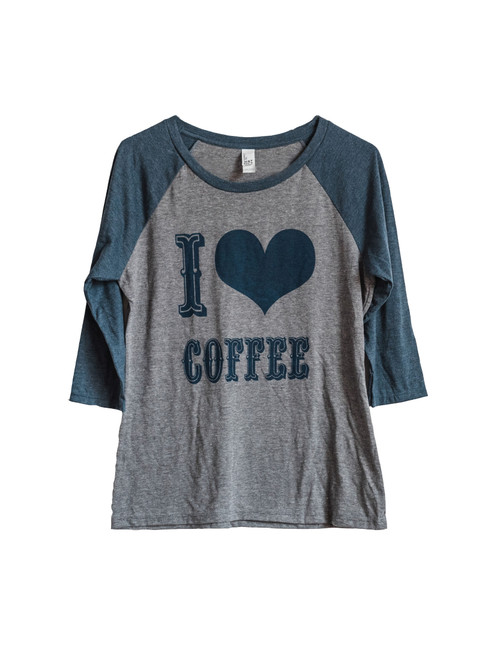 I Love Coffee Raglan Shirt