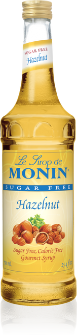 Monin Sugar Free Hazelnut Syrup 750mL
