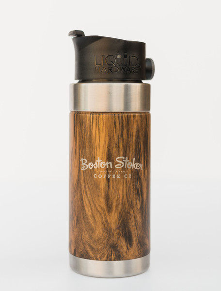 Woodgrain 16 oz Travel Mug