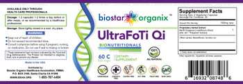 BioNutritionals, Ultra FoTi Qi (60 Caps)