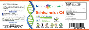 BioNutritionals, Schisandra Qi (60 Caps)