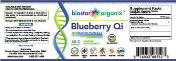 BioNutritionals, Blueberry Qi (60 Caps)