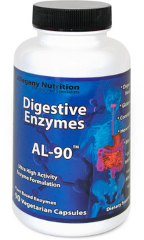 Allegany Nutrition Gluten Free Digestive Enzymes - 90 Count